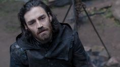 Lucien Grimaud (Matthew McNulty) having a chat with Aramis. Episode 8. Prisoner of War.
