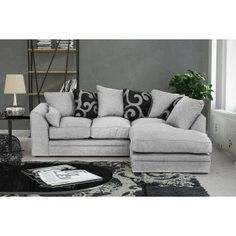 Stylish Unusual Corner Sofa Ideas That You Can Apply In The Living Room Living Room Sofa, Living Room Decor, Dining Room, Curtains Living, Corner Sofa Wayfair, Modular Corner Sofa, Small Sofa, Small Grey Corner Sofa, Corner Sofa Living Room Small Spaces