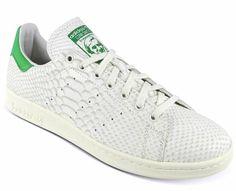 adidas Consortium STAN SMITH Reptile Leather[WHITE VAPOUR/LIGHT BONE/FAIRWAY] (M22240)