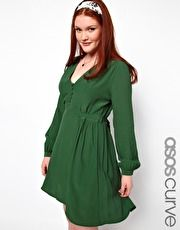 Tea Dress With Button Detail from Asos