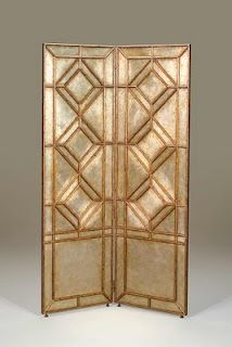 gold and silver art deco screen