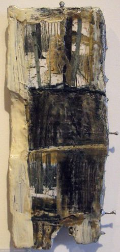winter encaustic on found panel 7x14in 2013