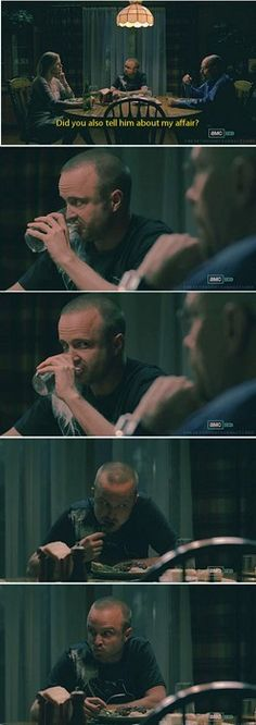 Best scene ever! Walter: The kids aren't here. Jesse: Thank god!