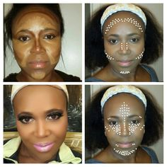 Highlight and contour with contour  mapping instagram @haute_nails tphaeulz.wix.com/bookanartist