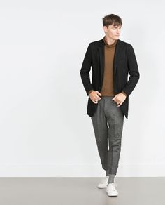 Image 1 of CHARCOAL TROUSERS from Zara