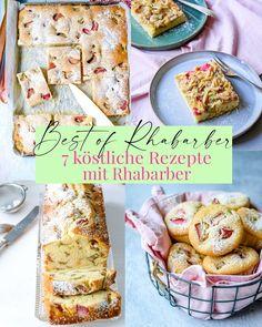 Best of Rhabarber - 7 leckere, schnelle und einfache Rezepte mit Rhabarber - Blechkuchen, Kastenkuchen, Muffins | waseigenes.com #Rhabarber