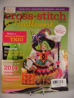 Cross Stitch & Needlework Magazine September 2014 Halloween Owl Quintet New #CrossStitchNeedleworkMagazine