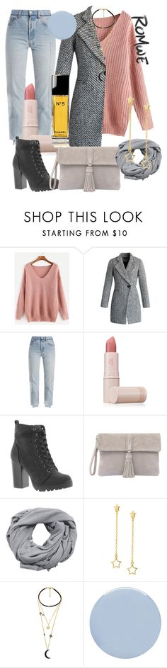 """Romwe Sweater"" by kingthesirens ❤ liked on Polyvore featuring Chicwish, Vetements, Lipstick Queen, Steve Madden, Mint Velvet, MANGO, Dainty Edge, WithChic, Deborah Lippmann and contest"