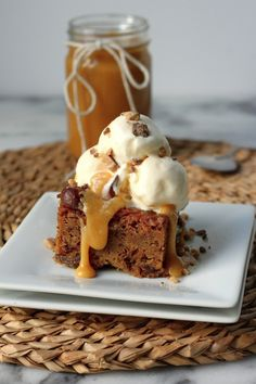 Gingerbread Sticky Date Pudding with Toffee Caramel Sauce