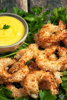 Give your shrimp a crust of coconut flakes and then try dipping them in this tropical sauce for extra flavor.