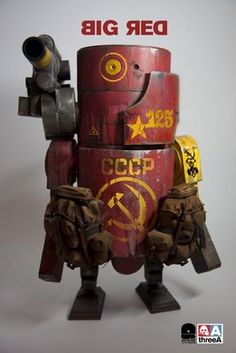 Big Red Russian robot