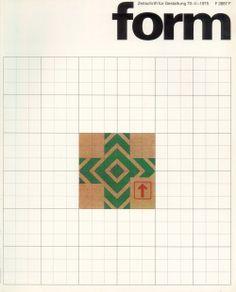 form N° 70. 1975. Cover: Hanswerner Klein. © Verlag form GmbH & Co. KG