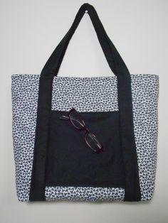bolsa Branco com Preto