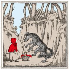 'Little Red Riding Hood' - Edward Gorey Illustrates Little Red Riding Hood and Other Classic Children's Stories | Brain Pickings