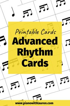 Advanced Rhythm Cards - Piano with Lauren Music Games For Kids, Music Activities, Fun Music, Music Web, Vocal Lessons, Music Lessons, Piano Lessons, Piano Practice Chart, Piano Music With Letters