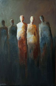 """The Only Two People"" by Shelby McQuilkin abstract figurative, contemporary art…"