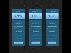 Photoshop Design Graphic Tutorial How to Create Simple Price Table in Photoshop CS6