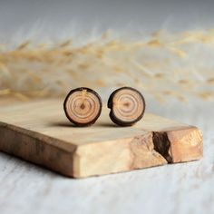 Your place to buy and sell all things handmade Earring Studs, Gifts For Nature Lovers, Wood Earrings, Jewelry Tree, Wood Texture, Natural Wood, Eco Friendly, Minimalist, Organic