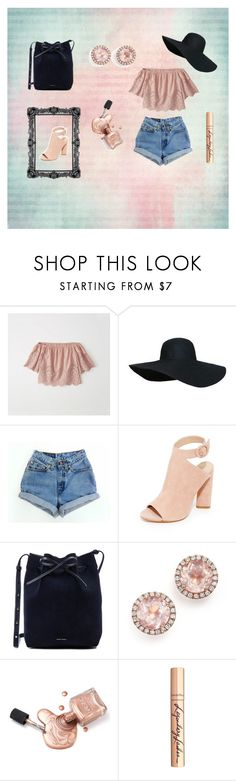 """Hats off For Summer"" by maddie-elizabeth-xo ❤ liked on Polyvore featuring Abercrombie & Fitch, Levi's, Kendall + Kylie, Mansur Gavriel, Dana Rebecca Designs and Charlotte Tilbury"