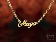 Nacklace with name Gold Necklace, Jewelry, Gold Pendant Necklace, Jewlery, Bijoux, Schmuck, Jewerly, Jewels, Jewelery