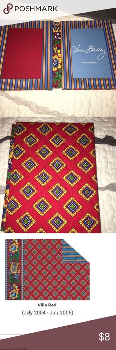 VERABRADLEY Pic Frame/ RETIRED Pattern VERABRADLEY picture frame 4X6 **Retired pattern** Pattern-Villa Red 2004-2005  Never used at all Found it while cleaning out my room to get redone. Originally $25 PLEASE REMEMBER ITS A RETIRED PATTERN Vera Bradley Other