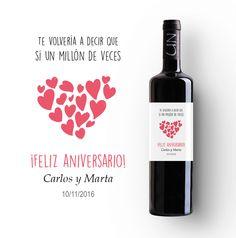 Regalos inolvidables para aniversarios felices. Descúbrelos en www.etiquetatuvino.com