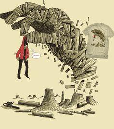 Estampa 'Revanche' no Camiseteria.com. Autoria de rodisley jose da silva http://cami.st/d/55857