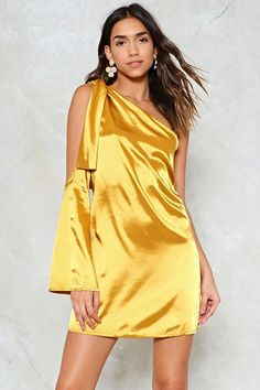 One For the Road Satin Dress