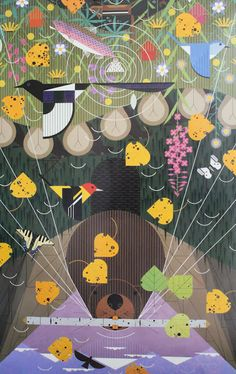 I love Charley Harper's work.  Really really.  I'd like to do some work inspired by his.  Beavers and Magpies and Fireweed, oh my!