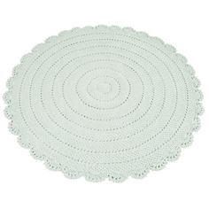 In a unique round shape, this grey bath mat features a design of varying textures with a pretty border that boasts sophistication. Girl Room, Girls Bedroom, Crochet Carpet, Magic Carpet, Mint Color, Inspiration For Kids, Kidsroom, Nursery Room, Kids Rugs