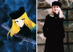 Maetel from the Galaxy Express 999 by Leiji Matsumoto's & an unknown model