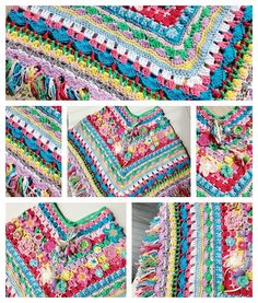 Buffo e Birboncello: Gehaakte Poncho Afghan inspiration Freeform Crochet, Knit Or Crochet, Crochet Scarves, Crochet For Kids, Crochet Clothes, Crochet Baby, Crochet Shawls And Wraps, Crochet Stitches Patterns, Crochet Fashion