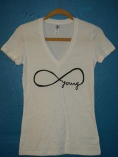 but i want this as a tattoo!! forever young infinity tshirt by maacbeth on Etsy funny