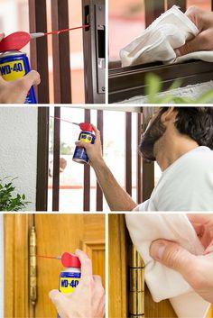Básicos de mantenimiento del hogar ➜ ¿Tus ventanas chirrían? ¿Tus persianas no bajan bien? Es hora de ponerle remedio.  #DIY #Reparaciones #WD40 #Lubricante