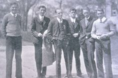 An example of male student fashion from 1929.