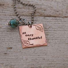 {So Very Thankful} jewelry we make