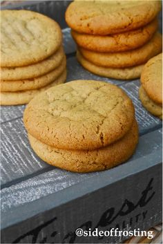 Spiced ginger and maple cookies...soft baked!
