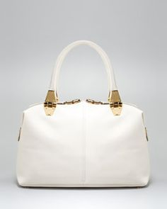 V1DRQ Tom Ford Natasha Ivory Calfskin Satchel Bag
