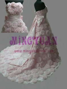 Google Image Result for http://www.bridaldressesmall.com/images/pink_organza_handmade_flowers_all_over_real.jpg
