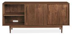 Room & Board   Grove 72w 20d 32h Two-Door Media Cabinet in Walnut Wood