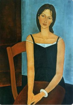 Definitely NOT by Modigliani, but very nice anyway. Amedeo Modigliani, Modigliani Paintings, Figure Painting, Painting & Drawing, Figurative Kunst, Painting Gallery, Portrait Art, Art Images, Art History