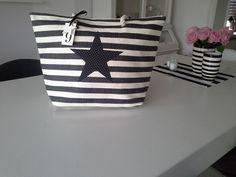 Große Tasche, Umhängetasche , Strandtasche von rosa rot auf DaWanda.com