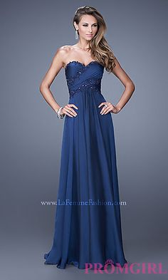 Strapless La Femme Dress with Open Back at PromGirl.com