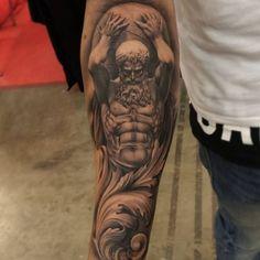 Znalezione obrazy dla zapytania hercules tattoo sleeve