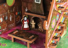 A witch's gingerbread kitchen!  Storytime Toys' Hansel and Gretel dollhouse and storybook playset.