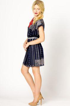 59ec1a81a8b Noren Print Dress from a-thread. La Creacion