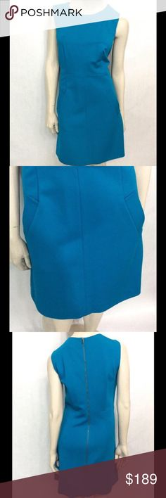 "DVF Ocean Blue Carpreena Mini Dress DVF Diane von Furstenberg Carpreena Mini Dress - In perfect NWT condition. Guaranteed authentic! *Ocean blue *Sleeveless *Exposed metal back zipper *Boat neck *Rayon/Spandex blend *Bust: 42"", Waist: 36"", Hip: 44"", Length: 35.5"" *MSRP $328 Diane von Furstenberg Dresses"