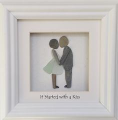 It Started with a Kiss. https://www.etsy.com/uk/listing/509940127/cornish-pebble-art-it-started-with-a?ref=shop_home_active_7