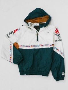 Starter Olympic Jacket vintage pullover anorak windbreaker coat 80s 90s 90s  Urban Fashion 62c0451fa