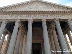 La inscripción en el frontón de entrada al Panteón de Agripa, Roma.